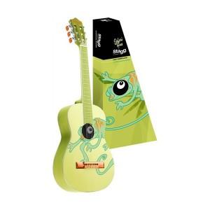 Klasická kytara s motivem chameleona