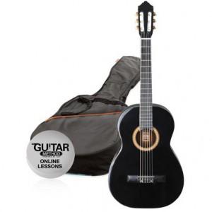 klasická kytara paket 1/4 ashton spcg 14 bk pack (černá)