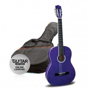 klasická kytara paket 1/4 ashton spcg 14 tp pack (fialová)