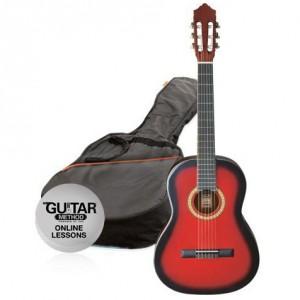 klasická kytara paket 1/4 ashton spcg 14 trb pack (červená)