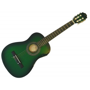 klasická kytara 1/2 pecka cgp-12 gb (zelená)