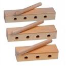 GOLDON - wood block děrovaný - 14 cm (33330)